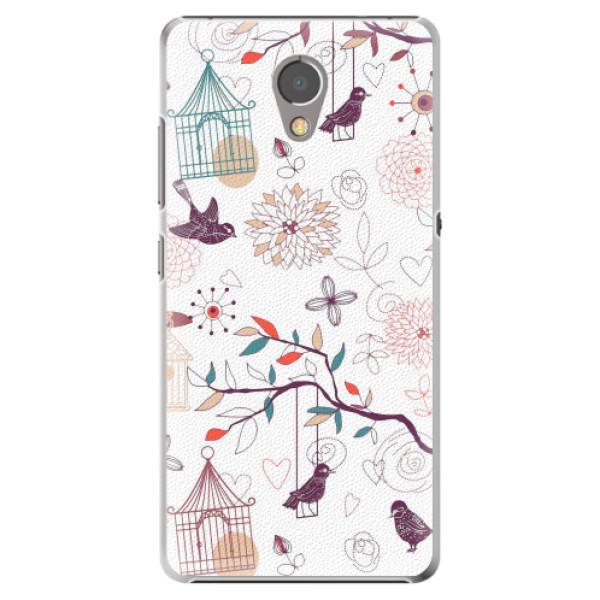 Plastové pouzdro iSaprio - Birds - Lenovo P2