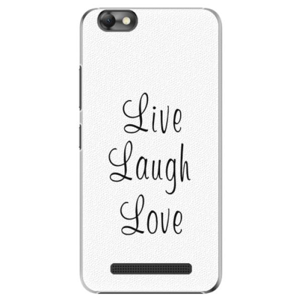 Plastové pouzdro iSaprio - Live Laugh Love - Lenovo Vibe C