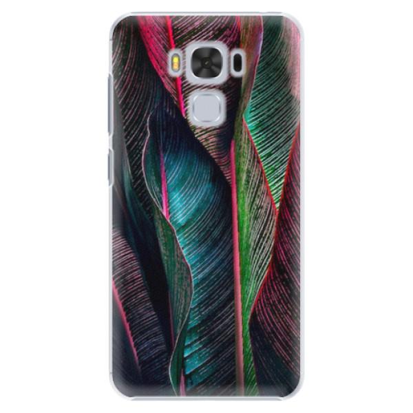 Plastové pouzdro iSaprio - Black Leaves - Asus ZenFone 3 Max ZC553KL
