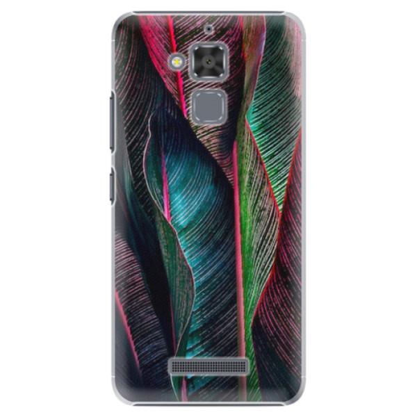 Plastové pouzdro iSaprio - Black Leaves - Asus ZenFone 3 Max ZC520TL