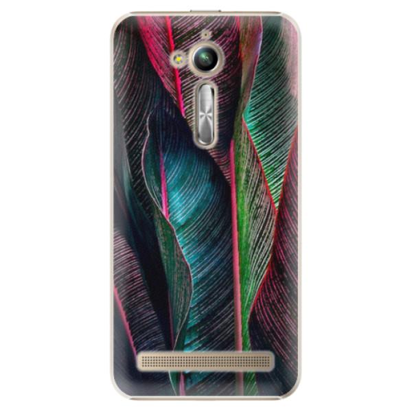 Plastové pouzdro iSaprio - Black Leaves - Asus ZenFone Go ZB500KL