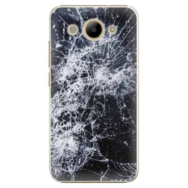 Plastové pouzdro iSaprio - Cracked - Huawei Y3 2017