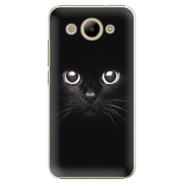 Plastové pouzdro iSaprio - Black Cat - Huawei Y3 2017