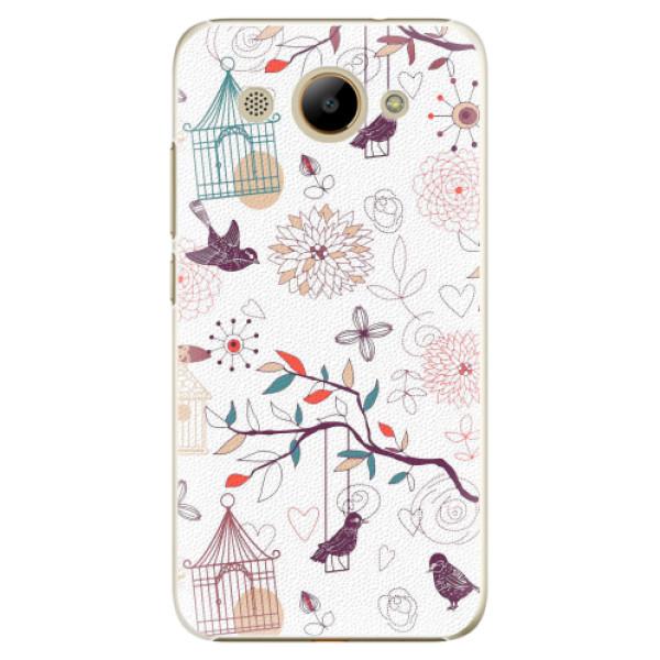Plastové pouzdro iSaprio - Birds - Huawei Y3 2017