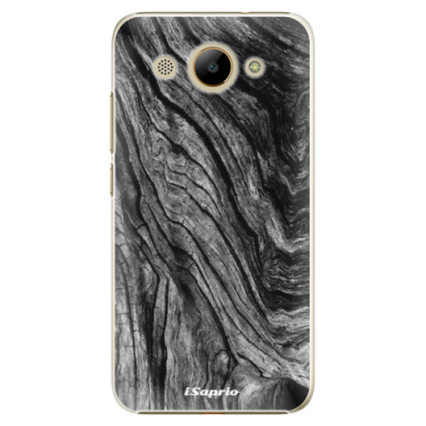 Plastové pouzdro iSaprio - Burned Wood - Huawei Y3 2017