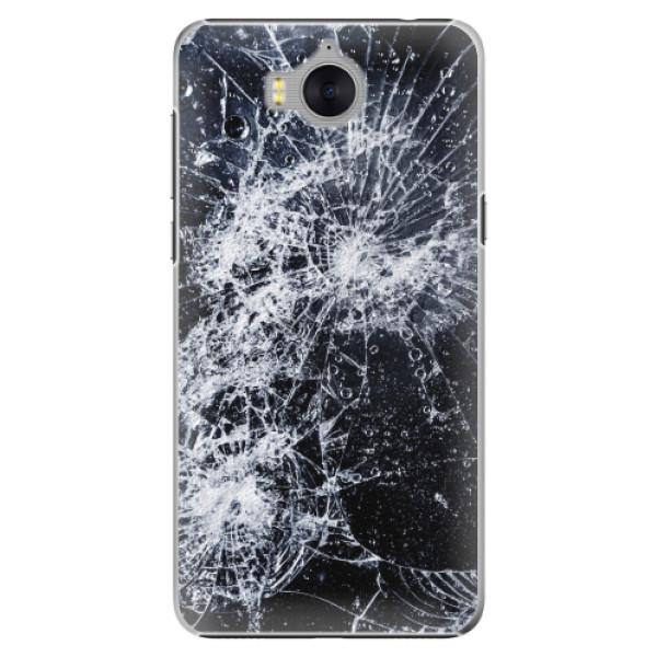Plastové pouzdro iSaprio - Cracked - Huawei Y5 2017 / Y6 2017