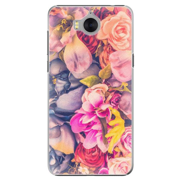 Plastové pouzdro iSaprio - Beauty Flowers - Huawei Y5 2017 / Y6 2017