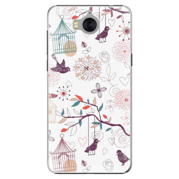 Plastové pouzdro iSaprio - Birds - Huawei Y5 2017 / Y6 2017