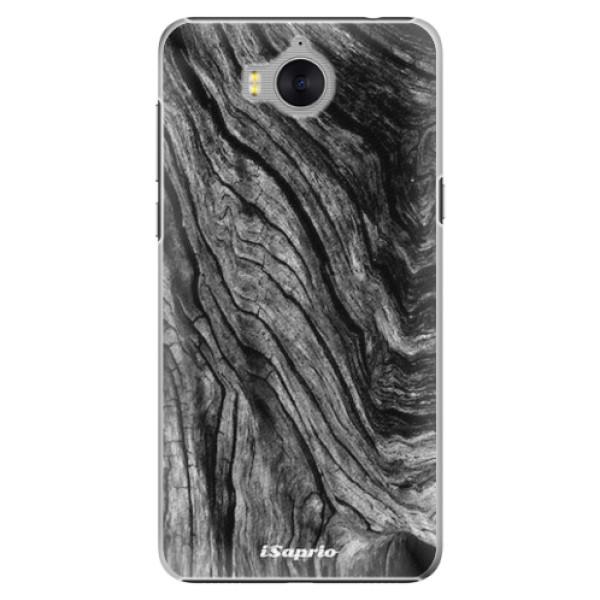 Plastové pouzdro iSaprio - Burned Wood - Huawei Y5 2017 / Y6 2017