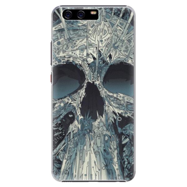 Plastové pouzdro iSaprio - Abstract Skull - Huawei P10 Plus