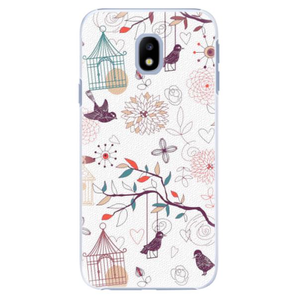 Plastové pouzdro iSaprio - Birds - Samsung Galaxy J3 2017