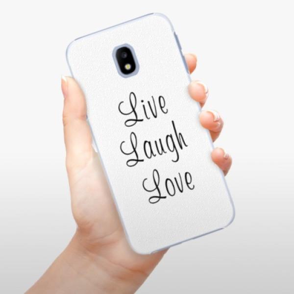 Plastové pouzdro iSaprio - Live Laugh Love - Samsung Galaxy J3 2017