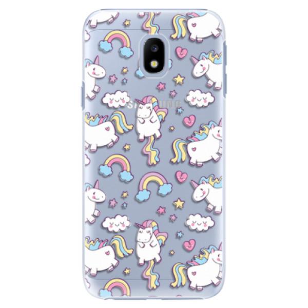 Plastové pouzdro iSaprio - Unicorn pattern 02 - Samsung Galaxy J3 2017