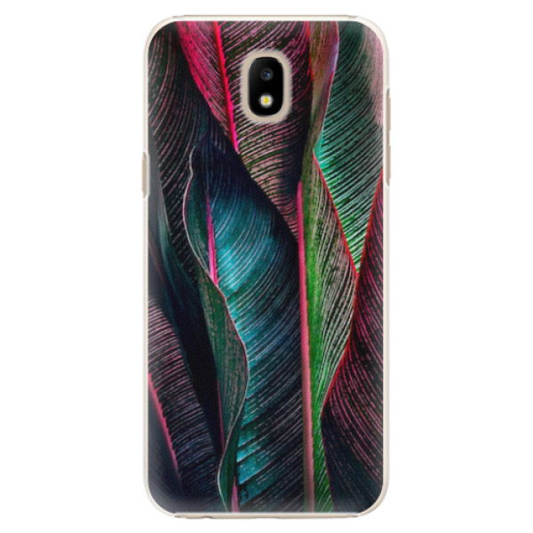 Plastové pouzdro iSaprio - Black Leaves - Samsung Galaxy J5 2017