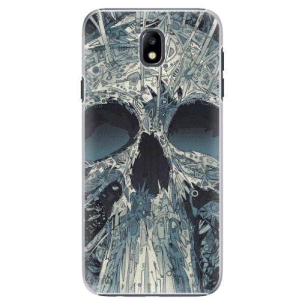 Plastové pouzdro iSaprio - Abstract Skull - Samsung Galaxy J7 2017