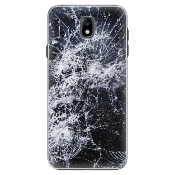 Plastové pouzdro iSaprio - Cracked - Samsung Galaxy J7 2017