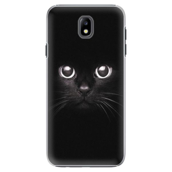 Plastové pouzdro iSaprio - Black Cat - Samsung Galaxy J7 2017