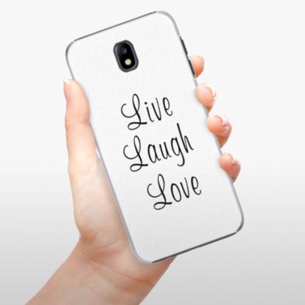 Plastové pouzdro iSaprio - Live Laugh Love - Samsung Galaxy J7 2017