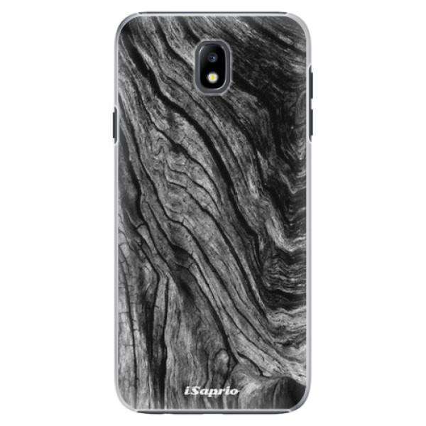 Plastové pouzdro iSaprio - Burned Wood - Samsung Galaxy J7 2017