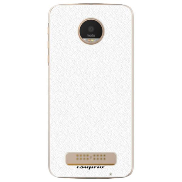 Plastové pouzdro iSaprio - 4Pure - bílý - Lenovo Moto Z Play