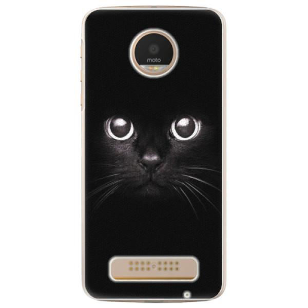 Plastové pouzdro iSaprio - Black Cat - Lenovo Moto Z Play