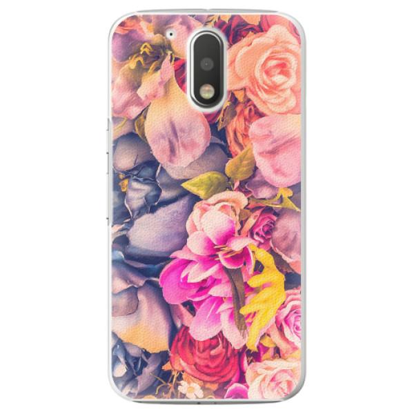 Plastové pouzdro iSaprio - Beauty Flowers - Lenovo Moto G4 / G4 Plus