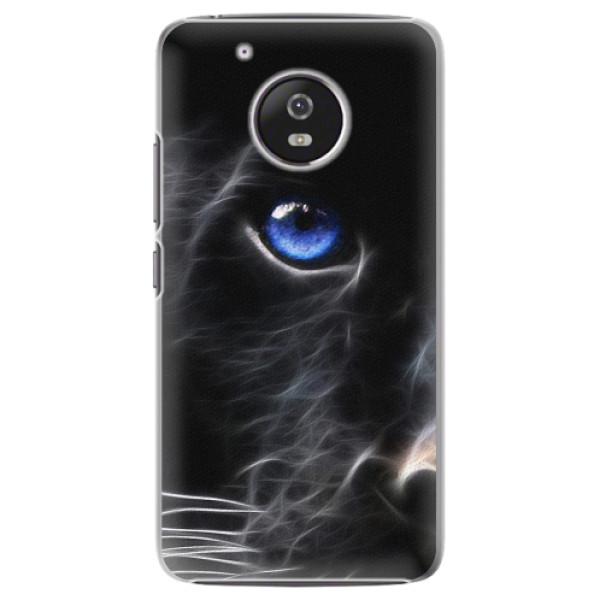 Plastové pouzdro iSaprio - Black Puma - Lenovo Moto G5