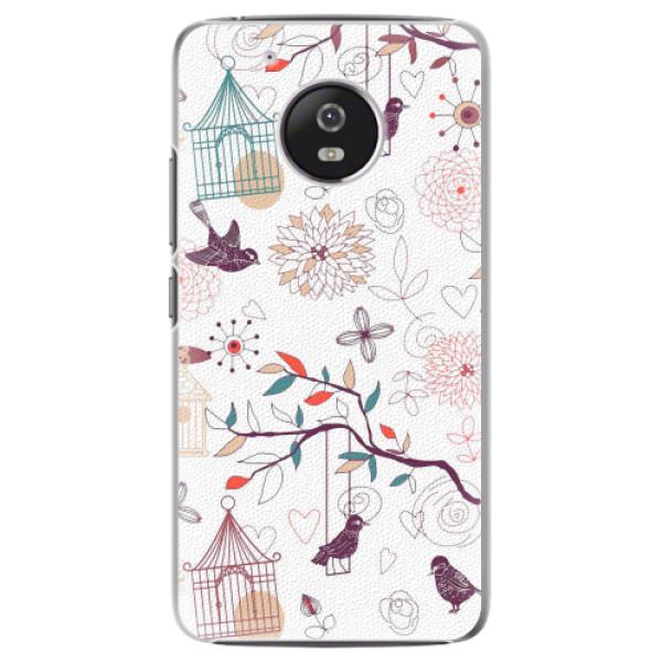 Plastové pouzdro iSaprio - Birds - Lenovo Moto G5