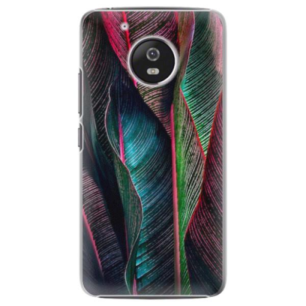 Plastové pouzdro iSaprio - Black Leaves - Lenovo Moto G5