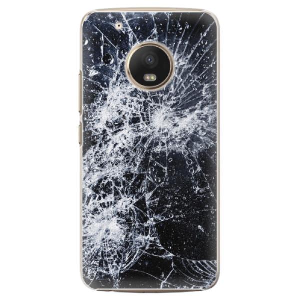 Plastové pouzdro iSaprio - Cracked - Lenovo Moto G5 Plus
