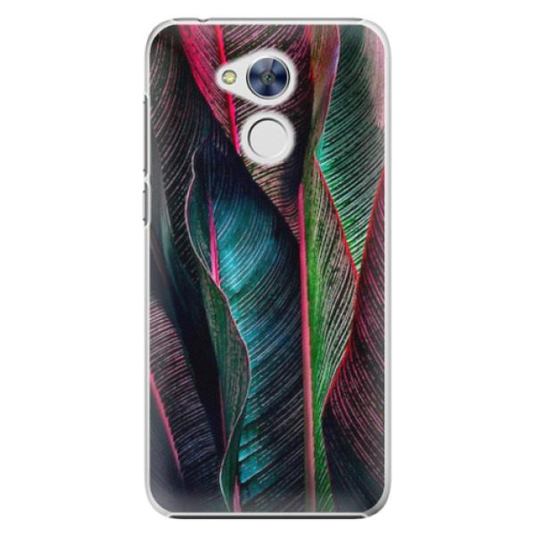 Plastové pouzdro iSaprio - Black Leaves - Huawei Honor 6A