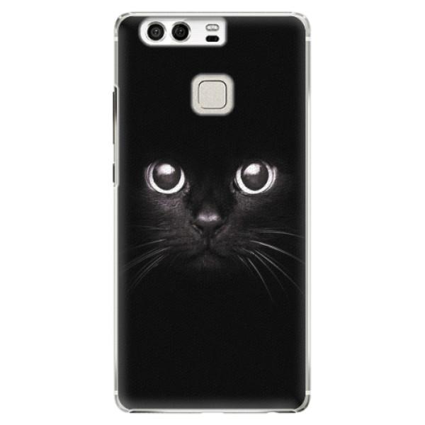 Plastové pouzdro iSaprio - Black Cat - Huawei P9