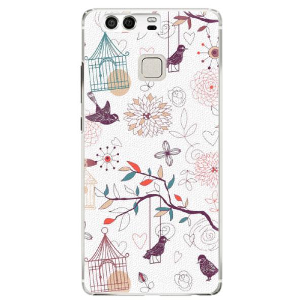 Plastové pouzdro iSaprio - Birds - Huawei P9