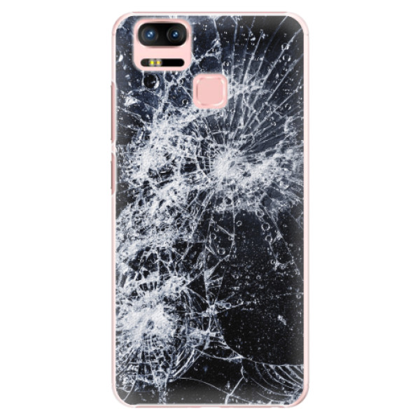 Plastové pouzdro iSaprio - Cracked - Asus Zenfone 3 Zoom ZE553KL