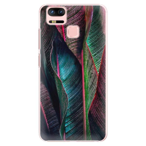 Plastové pouzdro iSaprio - Black Leaves - Asus Zenfone 3 Zoom ZE553KL