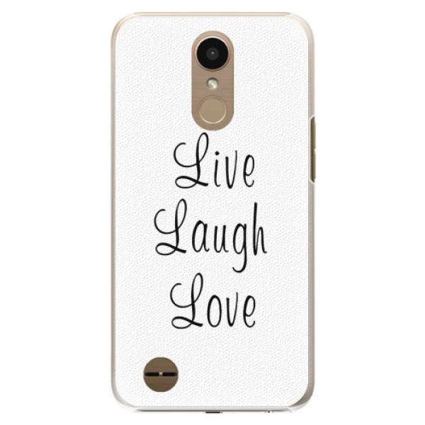 Plastové pouzdro iSaprio - Live Laugh Love - LG K10 2017
