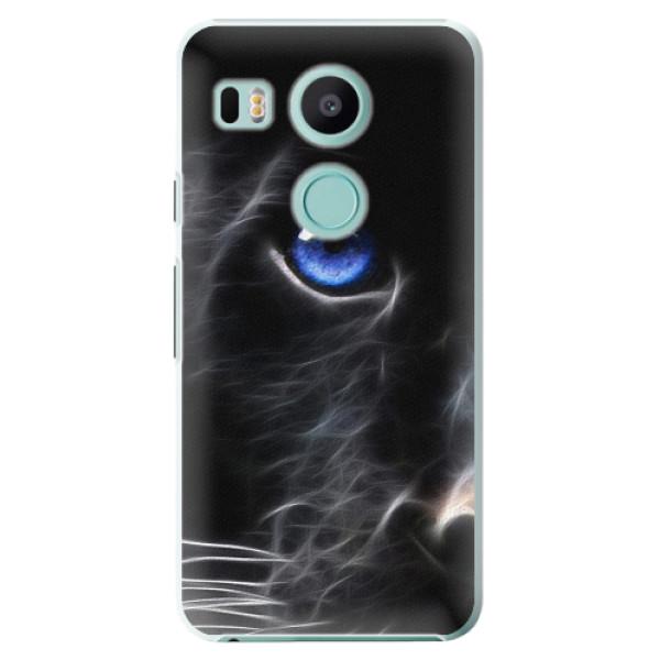 Plastové pouzdro iSaprio - Black Puma - LG Nexus 5X