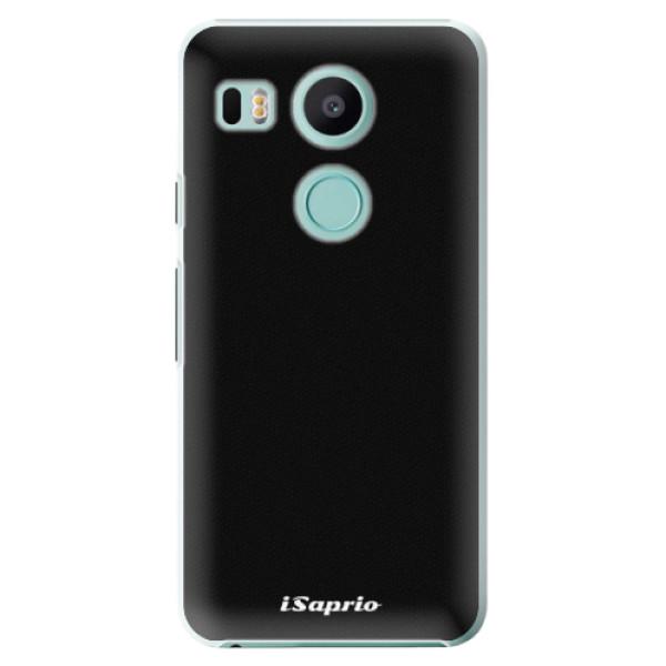 Plastové pouzdro iSaprio - 4Pure - černý - LG Nexus 5X