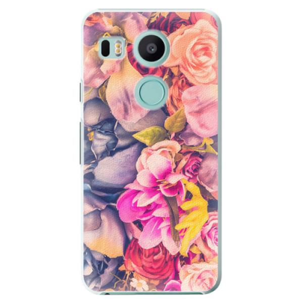 Plastové pouzdro iSaprio - Beauty Flowers - LG Nexus 5X