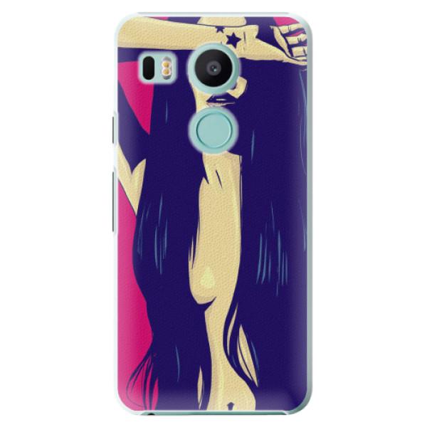 Plastové pouzdro iSaprio - Cartoon Girl - LG Nexus 5X