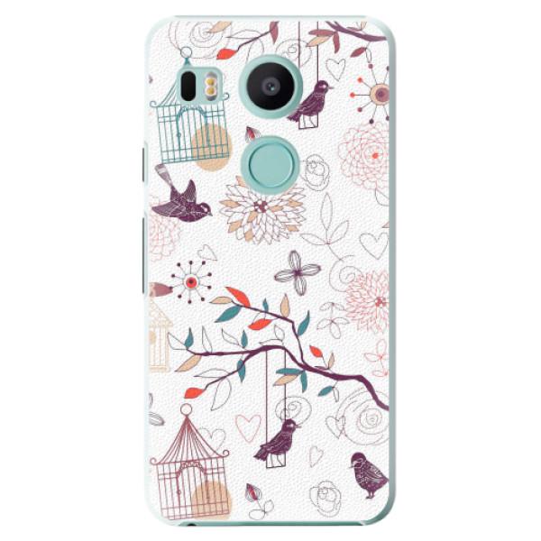 Plastové pouzdro iSaprio - Birds - LG Nexus 5X