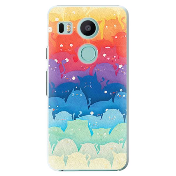 Plastové pouzdro iSaprio - Cats World - LG Nexus 5X