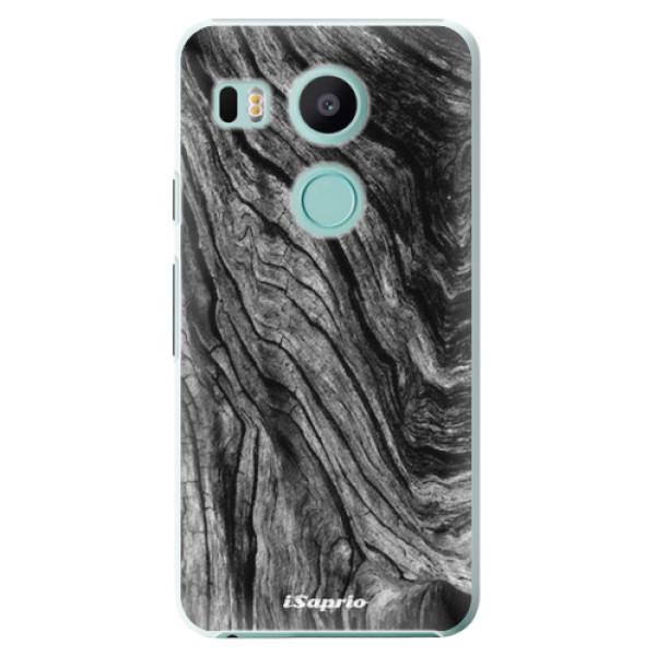 Plastové pouzdro iSaprio - Burned Wood - LG Nexus 5X
