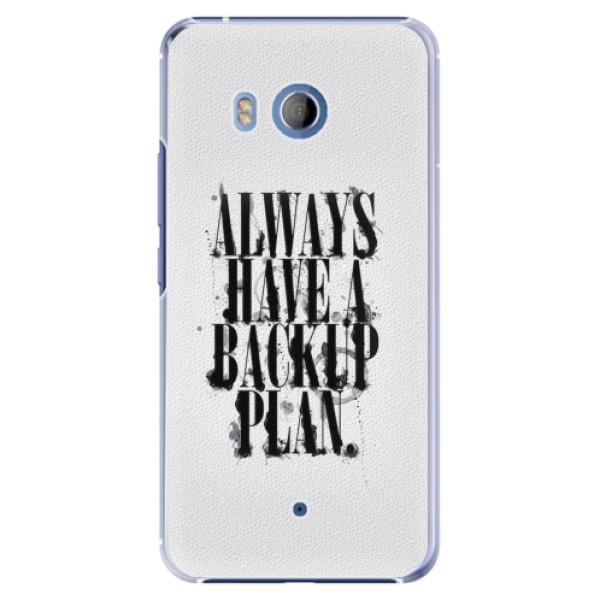 Plastové pouzdro iSaprio - Backup Plan - HTC U11