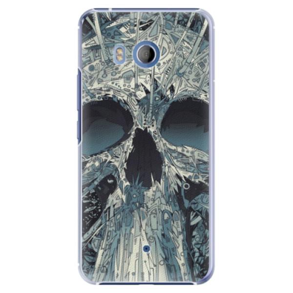 Plastové pouzdro iSaprio - Abstract Skull - HTC U11