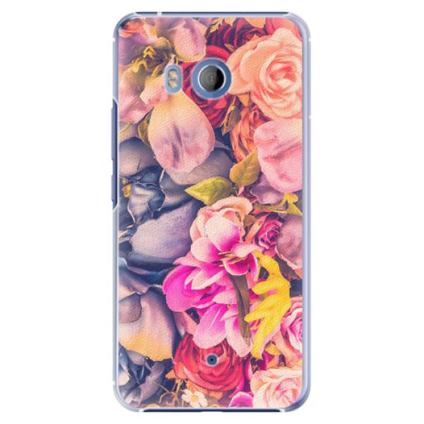 Plastové pouzdro iSaprio - Beauty Flowers - HTC U11