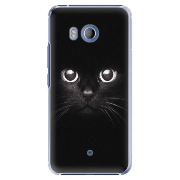 Plastové pouzdro iSaprio - Black Cat - HTC U11
