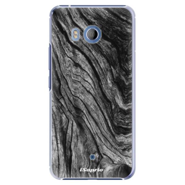 Plastové pouzdro iSaprio - Burned Wood - HTC U11