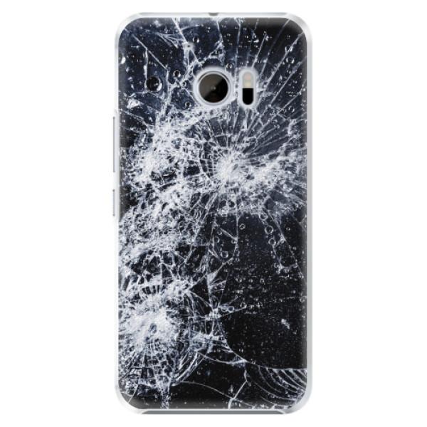 Plastové pouzdro iSaprio - Cracked - HTC 10