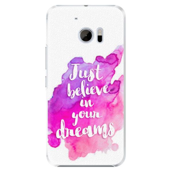 Plastové pouzdro iSaprio - Believe - HTC 10